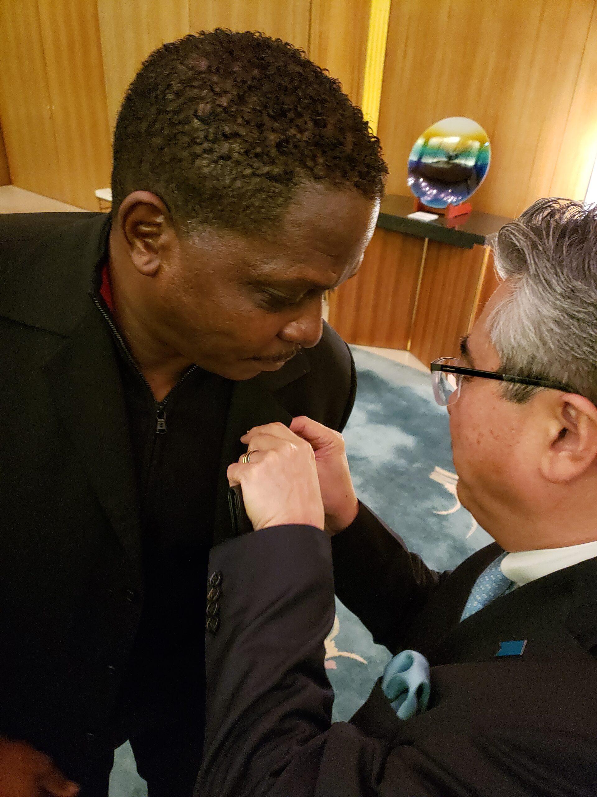 Darnell Sutton Honored by Japanese Ambassador Shinsuke J. Sugiyama