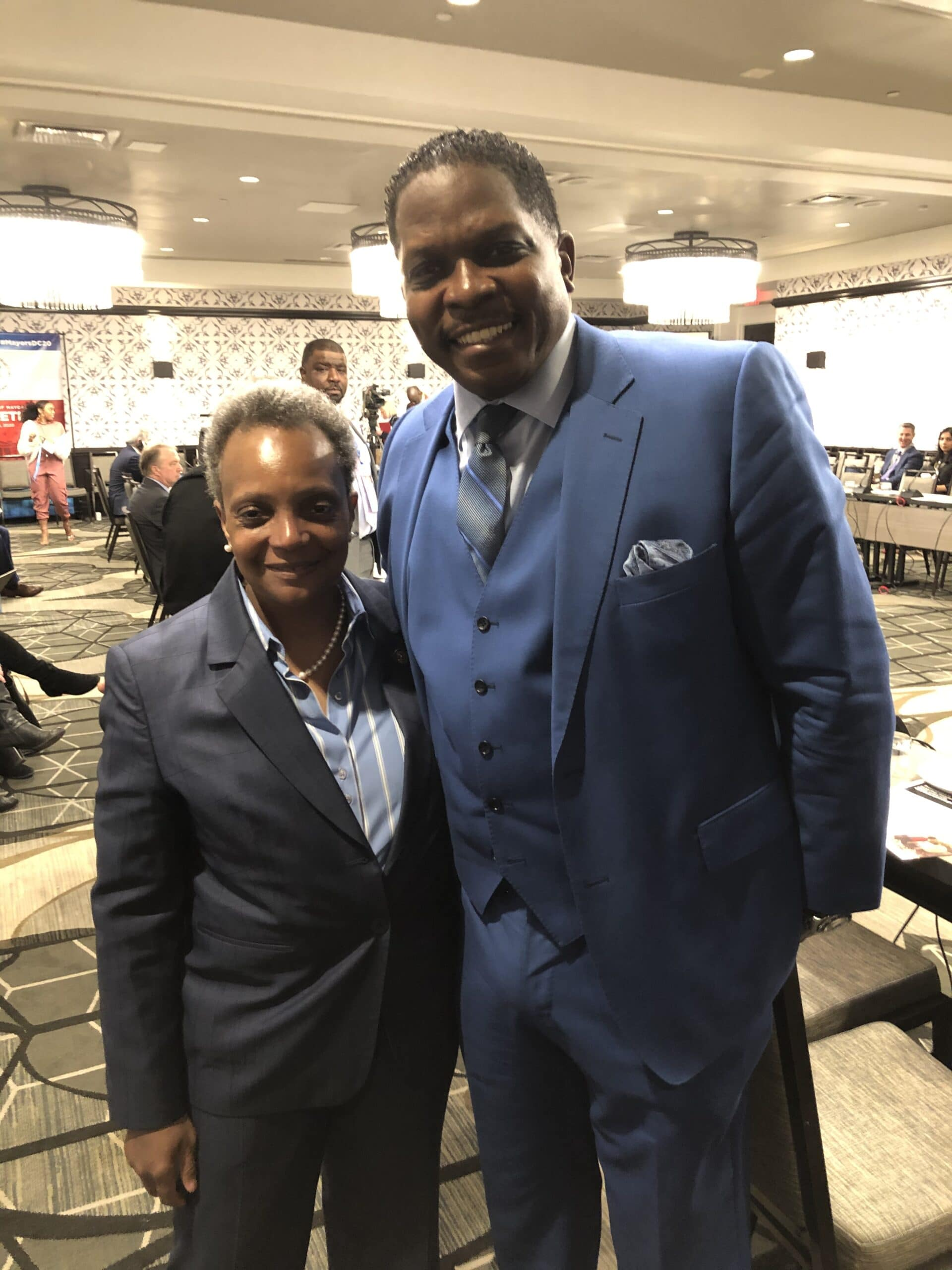 Darnell Sutton with Chicago Mayor Lori Lightfoot